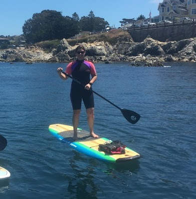 Paddleboarding in Pacific Grove
